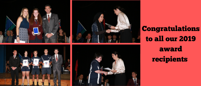 Four images of students receiving awards at our recent ceremonies