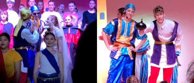 Picture of performers at opening night of Alladin Jnr.